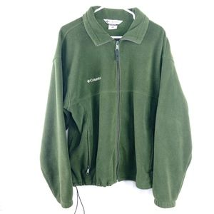 Columbia Mens Sweater XL Green Zipper